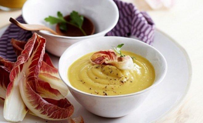 Крем супа с карфиол и боб