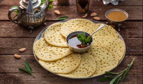 Вкусни Марокански палачинки с нишесте и набухвател